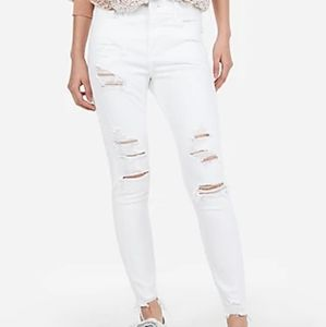 Express size 18 white skinny jeans